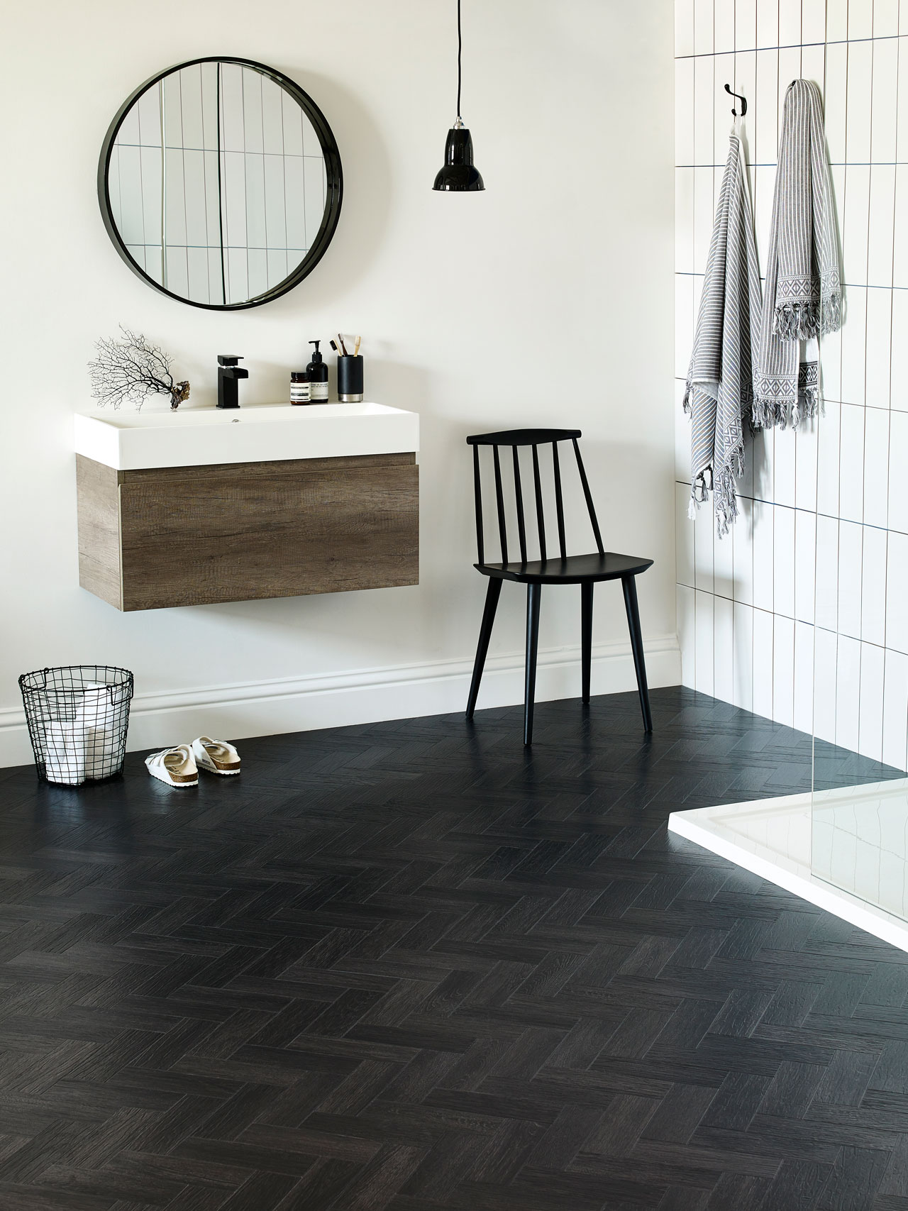 Amtico Coal Grained Oak Parquet